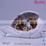 Decoration porcelain nativity scene