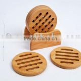 5 pcs Trivet with bamboo holder