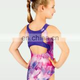 lovely sexi girl midriff gymnastic leotards sublimated printing custom design