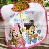 Cartoon pure cotton soft baby bib printed saliva towel custom made saliva towel