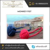 Customized Design Best Monkey Fist Nautical Rope Keychain Available from Bulk Dealer