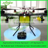 10L agricultural unmanned multi-rotor sprayers , 10KG uav drone crop sprayer , farming drone