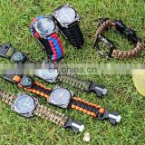 Multifunctional Outdoor survival Kit EDC Whistle Flint Compass Survival Watch
