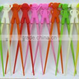2013 colorful new design cute silicone chopsticks
