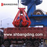 four ropes mechanical grab bucket for handling bulk material
