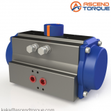 Rack and pinion pneumatic actuators