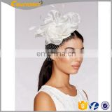 New Design Elegant Hair Fascinators Wedding Accessories High Quality Church Hats For Party Day Sinamay Hat