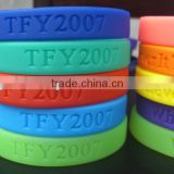 Custom Design Flexible Silicone Wrist bands And Colorful Wrist Bands