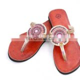 RH21 WOMEN LEATHER MOROCCAN STYLE HANDMADE SANDAL SLIPPER INDIAN TOE STRAP