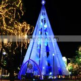 Home and outdoor garden edging decoration 2m to 16m or 6.5ft to 53ft Height artificial large 3d LED Christmas Tree E06 3010