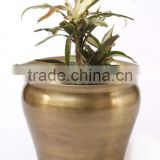 office decor metal shiny planters pots