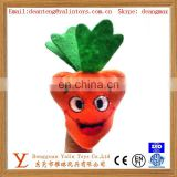 Various plush vegetable shape carrot finger puppets toy for education