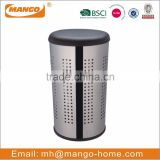 Cone PVC Lid Stainless Steel Laundry Basket