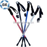 High Quality EVA Grip 3 Sections Telescopic Trekking Pole Outdoor Walking Alpenstock Aluminium Alloy Hiking Stick China
