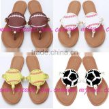 2017 stocks women mongram dis baseball sandal