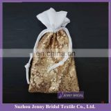 BAGS#3 cheap gold sequin wedding candy bags