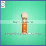 clean varnished wooden handle shaving brush