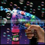 Summer Special Offer Flashing LED Bubble Gun With Lights Plus With 2 Bottles of Bubbles