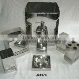 Mirror polished steel bathroom sets