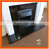 High Quality Shanxi Black Granite Fireplaces Hearths