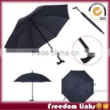 30 Inch black crutch Stick Straight Umbrella,auto open