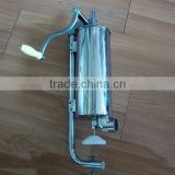 Hand operated stainless steel 7L desktop sausage stuffer