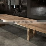Teak slab table