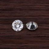 6.5mm round shape EF VVS white moissanite loose stones