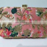 Floral Design Clutch Bag