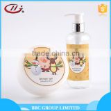 BBC Christmas Gift Sets Suit 003 New design cute moisturizing 2pcs christmas bath gift set with shower gel body lotion