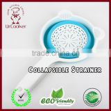 Creative Multi-Purpose Collapsible Silicone Colander/Strainer with handle