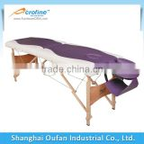 2 section aluminum folding masssage table with face plug