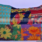 Vintage Kantha Pillow Cushion Cover India Sari Pillow Large Size Decorative Pillow Case