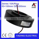 SRH100200 2P ethernet slip ring 100mm. OD200mm. 2Wires, 10A 2 wires