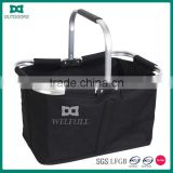 All Purpose Collapsible Aluminum Framed Picnic Cooler Basket