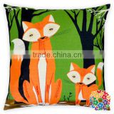 Wholesale Cotton Pillow Cover Lovely Fox Pillow Cover Blank Cushion Pillow Cover