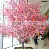 street landscaping festival decoration outdoor silk peach blossom tree