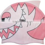high quality wholesale fish shaped funny swimming cap