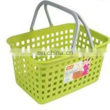New plastic vegetable basket with handle,plastic vegetable storage basket