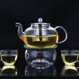 Wholesale handmade 600ML,800ML Tempered Glass Tea & Coffee Pot Tea Maker Infuser With Stainless Steel Basket