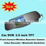 Rearview Mirror with 3.5 inch TFT Mobile Car DVR