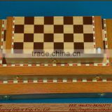 Professional wooden chess titans set/folded form and portable bamboo chess
