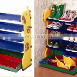 Lovely cartoon plastic shoe shelf