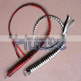 Leather whips, Black and red stripe whip, leather flogger, party whip, cosplay toy, smake whip