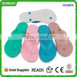 Transparent bareness flip flops slippers PCU shoes for femme