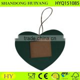 Heart shaped green color hanging photo frame, heart photo frame