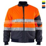 new design 100%oxford pu coated waterproof safety winter jacket with reflective tape