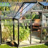 diy pc commercial aluminum modern glass garden greenhouse for sale