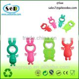 Amazing hand held new design Silicone Cartoon bottle openers