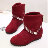 2018 autumn classic ladies boots warm cotton shoes factory outlets in the tube streamers flat shoes wholesale